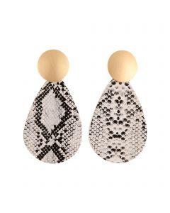 Bo Earrings White