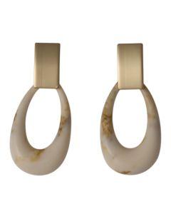 Eliza Earrings Cream