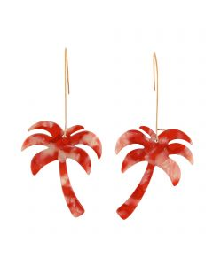Palm Earrings Red