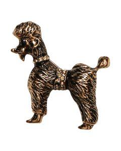 Poodle Brooch Gold